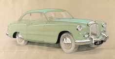 1952 Two-door Saloon by James Young (chassis B196MD, body 3000, design E10 by Pierre Brandone) - drawing