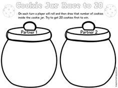 Free Cookie Jar Math for Kindergarten and First Grade - Happy Teacher, Happy Kids Teaching Tools, Teaching Math, Maths, Teaching Ideas, Math Stations, Math Centers, Math Games, Math Activities, Daily 3 Math