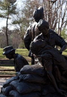 Vietnam Women's Memorial -  It was an awful, unnecessary war, but we must respect and support those who lived through it in the military, doing the best they could. Their need to remain silent on their return caused them even more pain and damage. I imagine they still have nightmares.