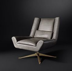 Luke swivel lounge chair by American Leather now a part of Restoration Hardware's new Modern Collection.