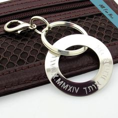 64e81279d68e Unique Gift for Him   Customized Silver Key chain   Keychain for Men   Mens  Luxury