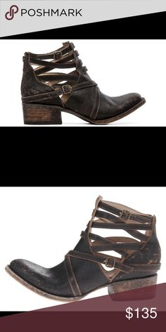 Freebird by Steven Stair low distressed ankle boot freebird Shoes Ankle Boots & Booties