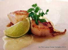 Sauteed Scallops with Lime Sauce - Silver Cloud, Silversea Cruises