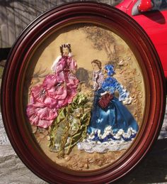 Ribbon & Stumpwork Embroidery of Victorian Ladies by emenow, $225.00