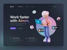 Aimm. by Tran Mau Tri Tam ✪ Best Ui Design, Web Design, Screen Cards, Branding, Design System, Website Design Inspiration, User Interface, Website Template, Invitation Cards