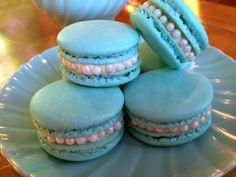 My Favorite Recipes: Tiffany Blue Almond Macarons