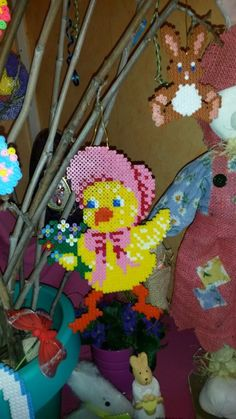 Easter Crafts, Creations, Blog, Crossstitch, Baby Chicks, Hama Beads