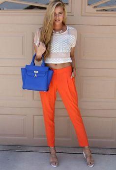 Orange Pants.