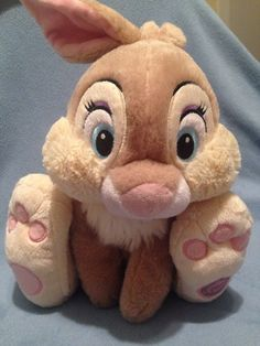 Details about vintage 1976 russ fuzzy wuzzy bunny plush rabbit disney store authentic bambi miss bunny plush 15 easter rabbit gift thumper disney negle Gallery