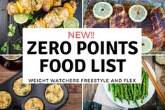 New Weight Watchers® Zero Points Food List includes all the zero point foods, including lean proteins and beans you can enjoy on the new WW Freestyle plan. Weight Watchers Program, Weight Watchers Smart Points, Weight Watchers Free, Weight Watchers Meals, Weigt Watchers, Paleo Recipes, Cooking Recipes, Cooking Hacks, Lean Protein