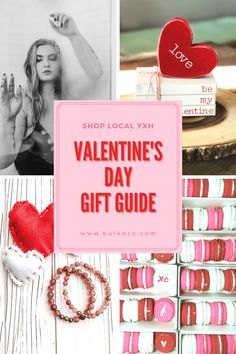 Valentine's Day Gift Guide - Shop Local YXH - burk & co. What Is Baking, Guide Shop, Chocolate Covered Cherries, Pink Paper, Wood Creations, Christmas Gift Guide, Shop Local, Gift Certificates, Little Gifts