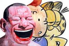 If you're in or around the LA area make sure to go see Yue Minjun's work at the Carmichael Gallery