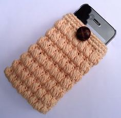 cell phone or ipod cozy - crochet free pattern