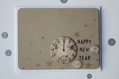 Happy New Year Card by Heather Nichols for Papertrey Ink (November 2014)