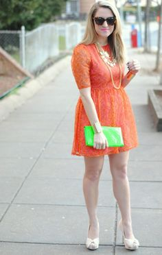 orange and neon green