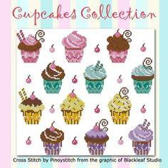 Black Leaf Studio Cupcakes collection <3
