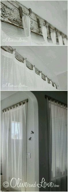 Living room/French door curtains for the one day house