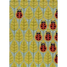 This Momeni rug sports a cute and quirky ladybug pattern. This rug features hand-carving for added texture and a vibrant color palette to make it as fun as it is unique.