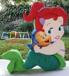 Mermaid Theme Birthday, Little Mermaid Birthday, Little Mermaid Parties, Barney Birthday, Baby First Birthday, 1st Birthday Parties, Princess Party Decorations, Birthday Party Centerpieces, Mermaid Pinata