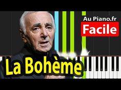 La Boheme Charles Aznavour Piano Cover Tutorial - PAROLES LYRICS - YouTube Piano Cover, Audio Sound, Sound Waves, John Lennon, Musicals, Singing, Tutorial, Keyboard, Digital Sheet Music