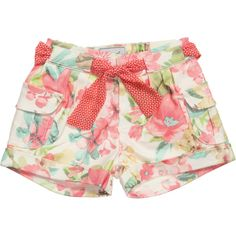 Mayoral - Baby Girls T-Shirt & Floral Shorts Set Short Niña, Short Girls, Outfits Niños, Kids Outfits, Grunge Outfits, Short Playsuit, Romper Pants, Chor, Girls Pants