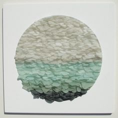 Sea Glass Sculpture: No22 by Jonathan Fuller. Sea glass collected from around the Cornish coastline.
