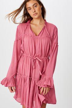 Review Dresses, Junior Dresses, Smocking, Maternity, Fashion Dresses, Ruffle Blouse, Mini, Casual, Cotton