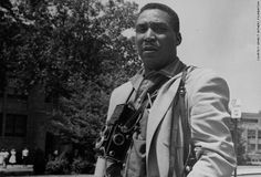 Ernest Withers (August 7, 1922 - Otober 15, 2007) was an Army photographer during World War II and after the war became one of Memphis' first African American police officers. His career as a civil rights photographer began with the funeral of Emmitt Till, and he often traveled with Dr. Martin Luther King. He also photographed Negro League Baseball and blues performers on Beale Street. In 2010 it was revealed he had been a paid FBI informant from 1958 to 1972. #TodayInBlackHistory