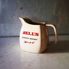 Vintage whisky water jug  Bell's Scotch Whisky by altmeansold, $28.00