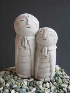 Jizo Statue, Concrete Statues Of Jizo's, Protectors Of Children, Jizo Figure, Garden Statue, Baby Shower Gift, Made In America Statues. by WestWindHomeGarden on Etsy https://www.etsy.com/listing/226972963/jizo-statue-concrete-statues-of-jizos