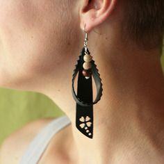 Boucles d'oreilles chambre à air et perle ré-flexion bo-3pc