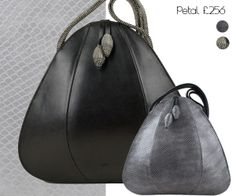Scuptural beauty the Petal. http://www.janehopkinsonbags.co.uk/medium-bags/petal-grey-snakeskin