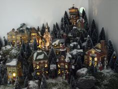 124 Best Christmas VILLAGE Display Ideas Images