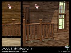 Wood Siding Pattern - Sims 3 Patterns - Dragon Black Sims