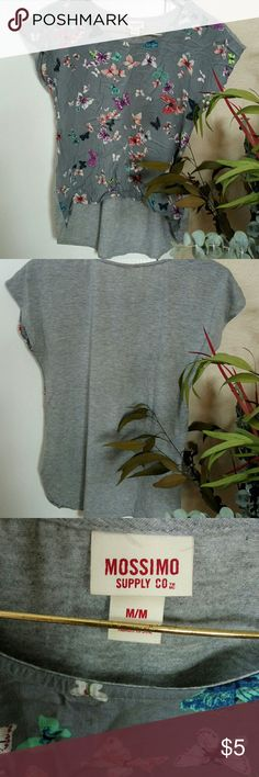 Butterfly tee Materials, front : rayon. Back : polyester. Mossimo Supply Co Tops Tees - Short Sleeve
