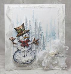 Anne Kristine: Frosty Snowman http://sizzixukblog.blogspot.co.uk/2013/11/frosty-snowman.html