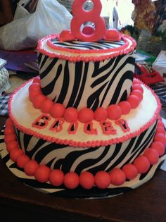 Zebra print cake.