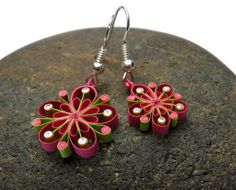 Victoria Brewer: Small Earrings Ecofriendly quilled paper Summer di VBPureDesigns, $16,10