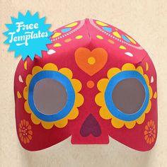 Dia de los muertos mask craft - 7 Calavera mask templates!