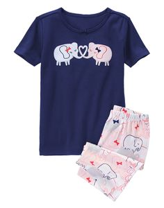 Elephant Sweethearts Shortie Two-Piece Gymmies® at Gymboree (Gymboree 6m-5T)