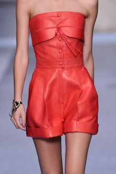 Unquie coral leather jumper.... never seen before!