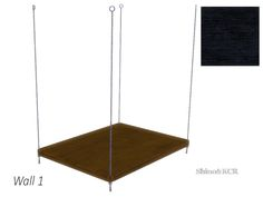 Seperate Frame for the Doublebed matching Wall 1  Found in TSR Category 'Sims 4 Beds'