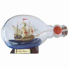 Maritmes Buddelschiff Santa Maria in Dimple Flasche für den Sammler und als schöne Geschenkidee  KEINE VERSANDKOSTEN INNERHALB DEUTSCHLANDS!!