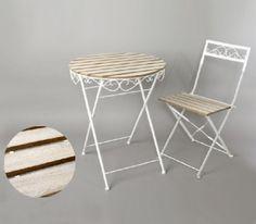 """Conjunto de mesa y dos sillas """"Bistrot"""""""