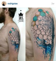 Image result for geometric half sleeve tattoos