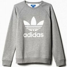 Image result for Adidas gray sweatshirt with white logo
