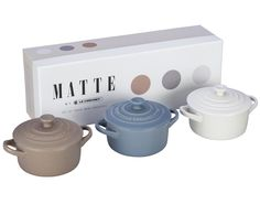 Le Creuset Matte Collection - Set of 3 Mini Cocottes, multi