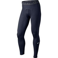 Nike Mens Pro Cool Compression Tights ObsidianDark GreyWhite 703098451 Size XLarge * Click image for more details. #mensoutdoorclothing