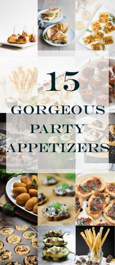15 gorgeous party appetizers