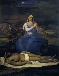 Sebastiano del Piombo and Michelangelo, Pietà, ca. 151617. Oil on panel, 260 x 225 cm. Viterbo, Museo Civico.